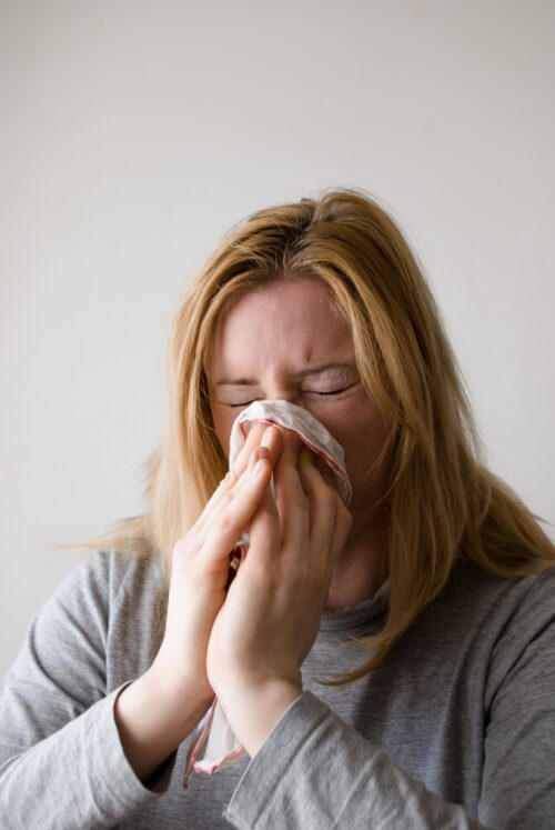 lèvre gonflée à cause d'une allergie